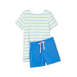 Tchibo - Shorty-Pyjama Weiß - Gr.: M