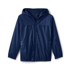 Wasserdichte Regenjacke mit Packfach - 152/164 - Blau