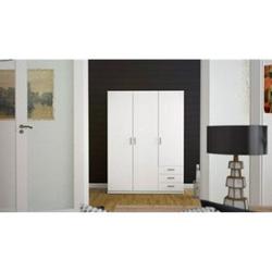 Kleiderschrank Spawn weiß 3 Türen Schlafzimmer Schrank Drehtürenschrank