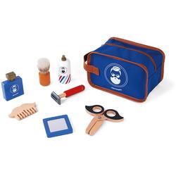 Janod Spielzeug-Frisierkoffer Rasier-Set, mit Zubehör blau Kinder Holzspielzeug