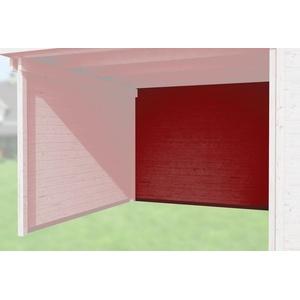 Weka Zubehör für Weka Designhaus 172 und 126 Rückwand Anbau 150 cm rot 21 mm