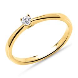 Verlobungsring aus 14K Gold mit Brillant, 0,10 ct.