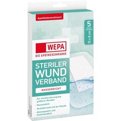 WEPA Wundverband wasserdicht 8x15 cm steril