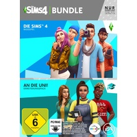 Die Sims 4 Bundle: Basisspiel + An die Uni! (Code in a Box) (PC)