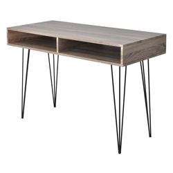 vidaXL Schreibtisch vidaXL Schreibtisch mit 2 Fächern Grau