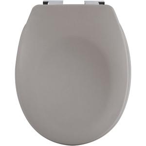 spirella Premium Toilettendeckel oval Klodeckel mit matten Finish und Softclose Absenkautomatik. Antibakterielle Klobrille aus Duroplast und rostfreiem Edelstahl - Taupe