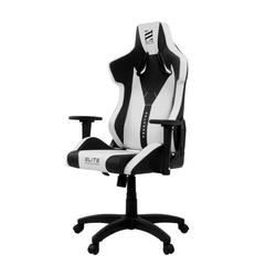 miweba Gaming-Stuhl Elite Predator Racing Optik, Stuhl 360 Grad drehbar, Stufenlose Wippmechanik weiß