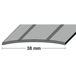LM-Übergangsschiene B.38mm L.90 cm Alu. goldf. 2 Rillen mittig gel.