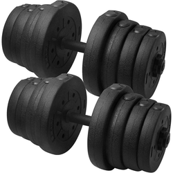 Yaheetech Hantel, 30 kg, 2er Kurzhanteln Set 30 Kg, Hantelstangen mit Sternverschlüsse für Krafttraining