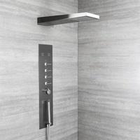 Hudson Reed Duschpaneel mit Massagedüsen, Unterputz, in dunklem Grau