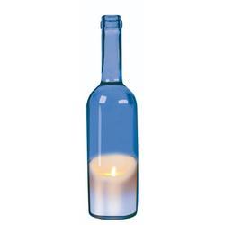 JOKA international LED-Kerze LED Kerze in Weinflasche, blau