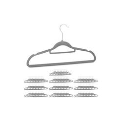relaxdays Kleiderbügel 100 x Samt Kleiderbügel grau