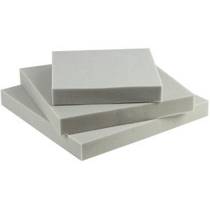 SEEBAUER Living® Schaumstoffplatte | Verschiedene Größen | RG35/40 | Auflage für Möbel und Palettenmöbel | Schaumkissen aus PU-Schaum (45 x 45 x 2 cm)