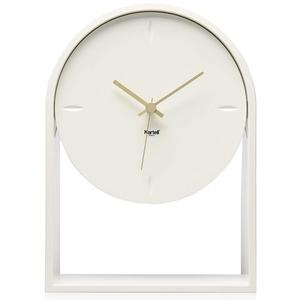 Kartell Air du Temps Tischuhr, Plastik, Weiß, 21.5 x 8 x 30 cm