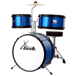 XDrum Junior KIDS Schlagzeug inkl. DVD blau