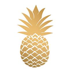 PPD Papierserviette Golden Pineapple 20 Stück 33 cm