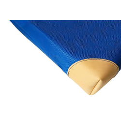 Geräteturnmatte mit Lederecken blau - 150 x 100 x 6 cm