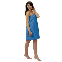 Sarong, Lashuma, - das hochwertige Sauna Zubehör für Damen blau
