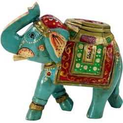 Guru-Shop Dekofigur Deko Elefant aus Indien, bemalte, indischer..