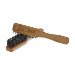 Bartbürste länglich aus Birnbaumholz