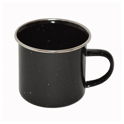A. Blöchl Tasse Tasse emaillierter Stahl schwarz neu (350 ml), emaillierten Stahl, Tasse aus emaillierten Stahl