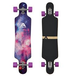 Twin Tip DT Longboard Supernova rosa/lila