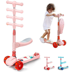 Arkmiido Schneescooter Scooter Roller Kinder rosa
