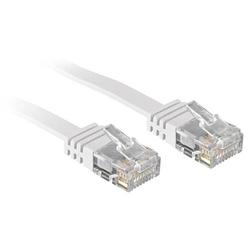 Lindy 47502 2m Cat.6 U/UTP  Flachband-Netzwerkkabel, weiß