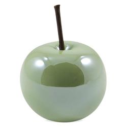 matches21 HOME & HOBBY Dekofigur Deko Äpfel Deko-Obst 1 Stk. grün 8x8x6,5 cm (1 Stück) 8 cm x 6.5 cm x 8 cm