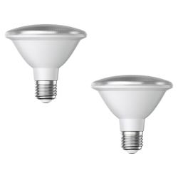 E27 PAR30 LED Reflektor-Leuchtmittel 12W 1300lm weiß A+ auch wetterfest mit kurzem Hals, 2 Stk.