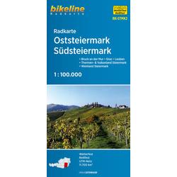 Radkarte Oststeiermark Südsteiermark 1:100.000