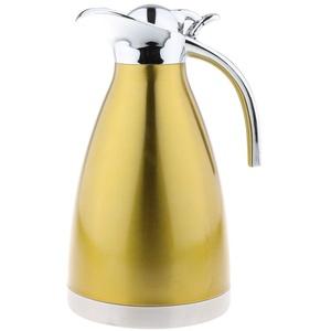 Tubayia 1,5L Edelstahl Thermoskanne Teekanne Kaffeekanne Doppelwandig Vakuum Isolierkanne für Tee/Wasser/Kaffee (Golden)