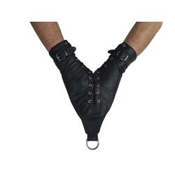 Leder Bondage doppel Monohandschuh Handfesseln