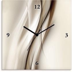 Wanduhr »Braune abstrakte Welle«, Wanduhren, 23923363-0 braun braun