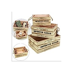 Kisten Set Holz Kolonialstil 3 Kisten, ca. 35 x 25 x 15 cm und 2 weitere Formate