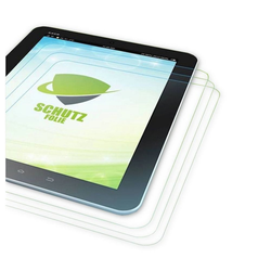 Wigento Tablet-Hülle 3x HD LCD Displayschutz für Lenovo Tab E10 TB-X104F 10.1 Schutz Folie + Poliertuch