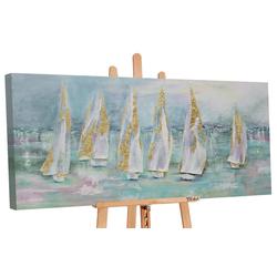 YS-Art Gemälde Segelboote