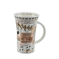 Dunoon Becher, Fine Bone China, Dunoon Becher Teetasse Kaffeetasse Glencoe Music