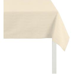 APELT Tischdecke 4362 Rips - UNI (1-tlg) natur quadratisch - 100 cm x 100 cm