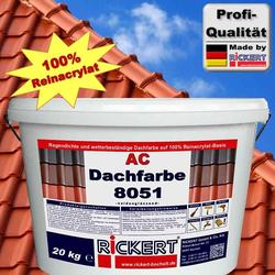 Dachfarbe 8051 20 kg Eimer Ziegelrot