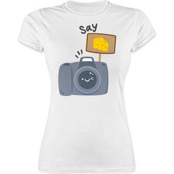 Shirtracer T-Shirt Kamera Say Cheese - Fotografen - Damen Premium T-Shirt XXL