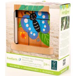 Stapelpuzzle Von der Raupe zum Schmetterling