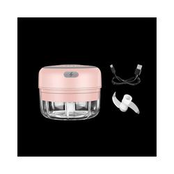 Gotui Knoblauchschneider, 100ml USB Elektrischer Knoblauchpresse Knoblauchstampfer Brecher Schleifer(Rosa)