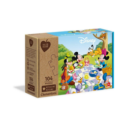 Clementoni® Puzzle Puzzle 104 Teile - Play for Future - Mickey Mouse, Puzzleteile