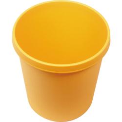 """helit """"the german"""" Papierkorb mit Rand, 30 Liter, Objekt-Papierkorb mit umlaufendem Griffrand, Farbe: gelb"""