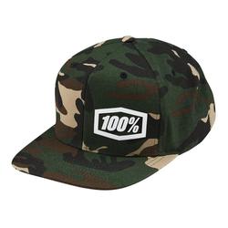 100% Snapback Cap Machine Camo