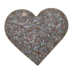 Dehner Gartenbank Herz, 17 x 17 x 5 cm, Granit, grau/rosa