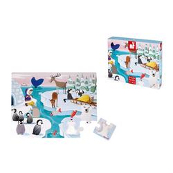 Janod Puzzle Haptik-Puzzle im Eis 20 Teile, 20 Puzzleteile