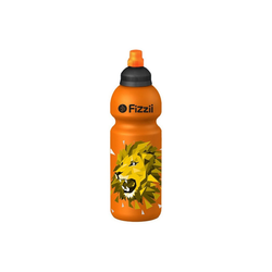 Fizzii Trinkflasche FIZZII Trinkflasche Dino kiwi, 600 ml orange