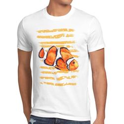style3 Print-Shirt Herren T-Shirt Clownfisch dorie pazifik nemo südsee aquarium aquarien L